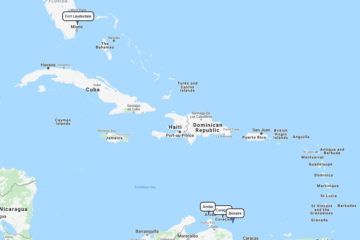 8-day Celebrity Southern Caribbean cruise from Port Everglades toGeorge Town, Aruba, Curaçao & Bonaire route