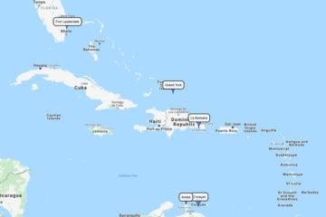 8-day Carnival cruise fromPort Evergladesto Grand Turk, La Romana, Curaçao & Aruba route