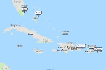Celebrity 7-day cruise to San Juan, St. Thomas, Punta Cana & Nassau route