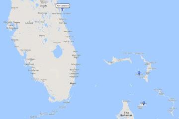 Disney 4-day Bahamian mini cruiseNassau & Disney Castaway Cay route